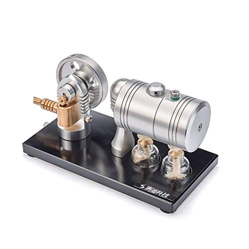 - Lysee All metal can start steam engine model engine retro belt heating boiler alcohol lamp K-005