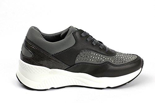 Damen Mode Damen Schnürer Turnschuhe Flache Schuhe Sneakers Fitnessstudio Pumps - Schwarz, 36