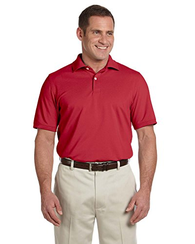 Ashworth Mens Combed Cotton Pique Polo Shirt - CARMINE RED - X-Large