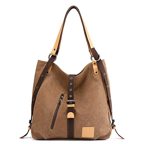 Brwon Brwon Large Canvas Shoulder Women's Tote Casual Purse Handbags Bags Hobos Sq1vxR