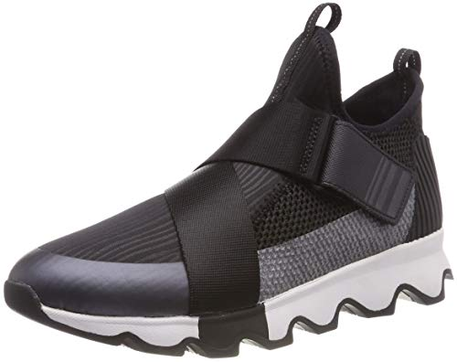 SOREL Women's Kinetic Sneak Sneakers, Black/White, UK 8