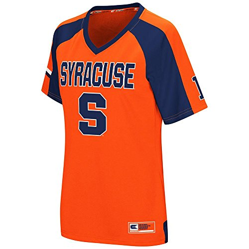 Womens NCAA Syracuse Orange Torch Football Fashion Jersey - M