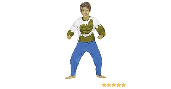 Guirca- Disfraz 7-9 años Superhéroe forzudo, u (87360.0): Amazon ...