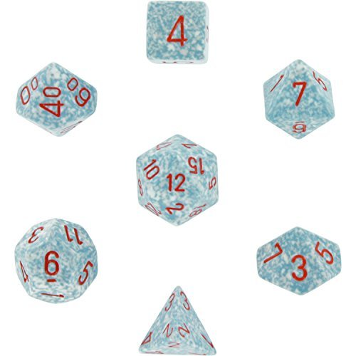 Chessex Polyhedral 7-Die Dice Set - Speckled Air