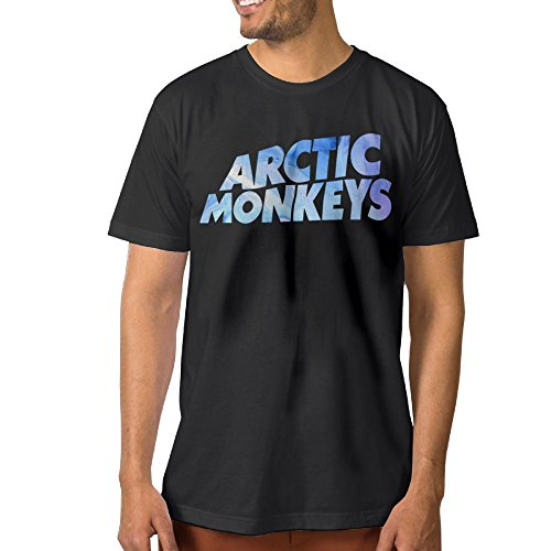 Enghuaquj Men's Artic Monkeys Short Sleeve T-Shirt Black -