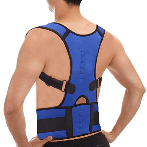 CFRTM Posture Shoulder Back Waist Support Compression Braces Prevent  Hunched Back Injury Recovery Body Reshape Blue,L by UPS
