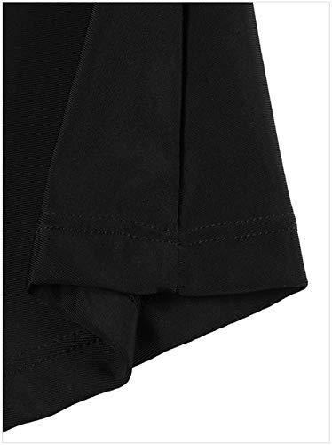 Unie Jupe lastique Bande de Jupe JDS Couleur Noir Jupe Fortuning's Femmes attache Les xzXIR