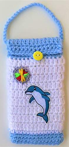 - Mother's Day Gift under $15 Crocheted Cell Phone Case iPhone/Android Phone Bag Cases Cute Dolphin Playing Ball Beach Lovers Birthday Graduation Gifts Convenient For Walking Running Outside Activity