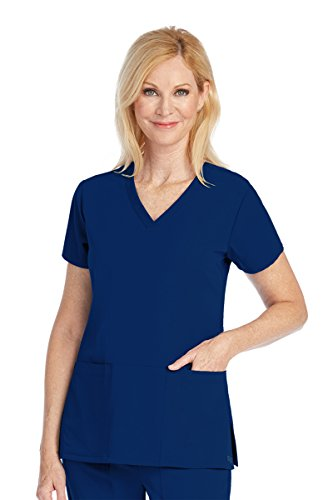 Grey's Anatomy Signature 2115 V-Neck 3 Pocket Top Indigo M