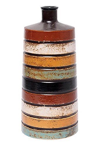 Hosley 10.25 Inch High Multi Colored Ceramic Bottle Vase. Ideal Gift for Wedding Home Floral Arrangements Spa Aromatherapy Votive Candle Garden Settings NTIOOP1 O9 -  - vases, kitchen-dining-room-decor, kitchen-dining-room - 41Q6swIsAZL -
