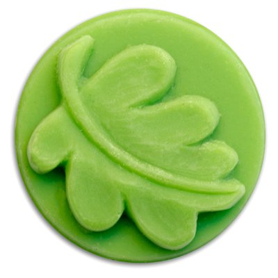 Small Round Leaf Soap Mold - Makes 0.65 oz Bars. Milky Way. Melt & Pour, Cold Process