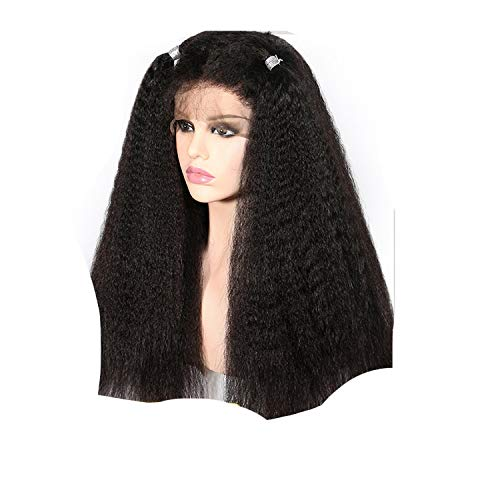 Straight Lace Front Human Hair Wigs Women Remy Lace Wigs 150% Baby Hair Full End Slove,#2,12inches ()