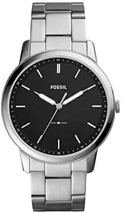 Fossil Men's The Minimalist Quartz Stainless Steel Dress Watch, Color: Silver-Tone (Model: FS5307)