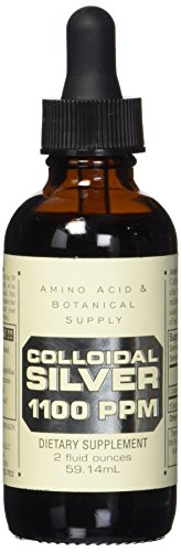 Amino Acid and Botanical Supply Colloidal Silver, 1100 PPM, 2 Ounce