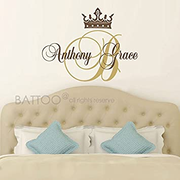 amazon com battoo princess wall decal crown wall decal baby girl