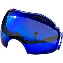Zero Replacement Lenses For Oakley Airbrake Snow Goggle Blue Mirror by Zero