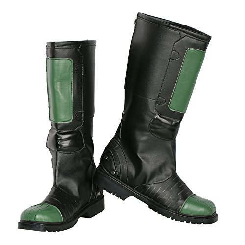 Mens Dredd Cosplay Boots Shoes for Halloween Costume