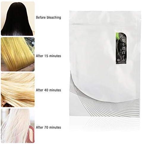 Set de decoloración del cabello, polvo decolorante para el cabello + 2 piezas de leche Dioxygen Sin estimulación, sin lesiones para peluquería y ...