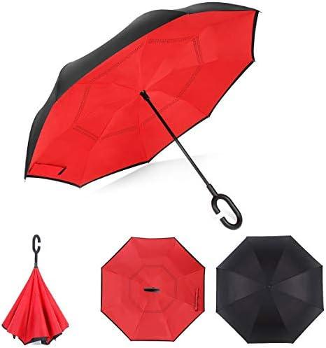 jidachuang Sun Umbrella UV Parasol Folding Women Small Lightweight Fox Animal