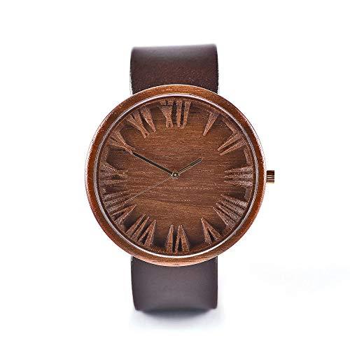 Mens Wooden Watch Prunus by Ovi Watch | Swiss Quartz Watch | Watch made from sustainably sourced nut tree wood