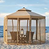 hampton bay sun shade - 10 ft. x 10 ft. Solar LED Lighted Gazebo