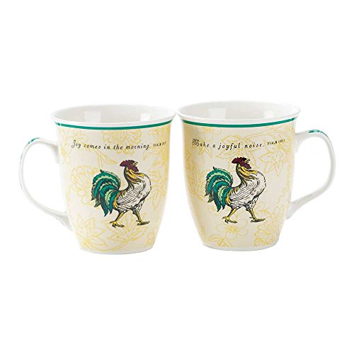China Loving Cup (Make Joyful Noise Rooster Psalm 100:1 16 Oz. New Bone China Coffee Cup Mug)