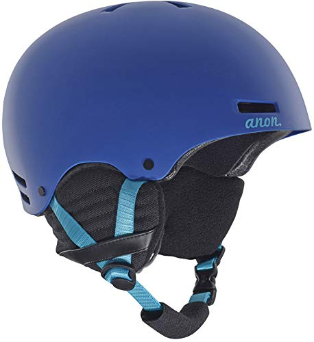 Anon Women's Greta Durable, Warm Ski Snow Helmet with Active Ventilation, Blue, Medium (Anon Wm1)