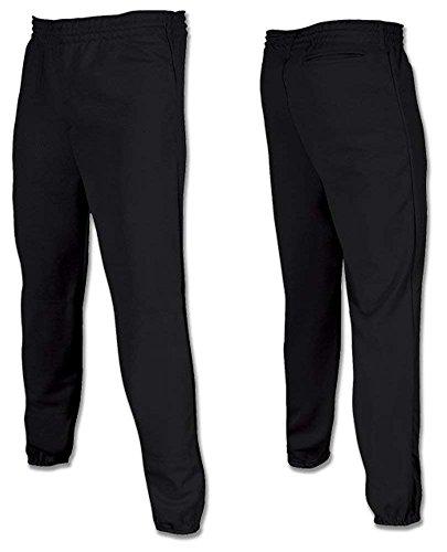 (oe's USA - Youth Baseball Softball Pull Up Pants-Black-XS)