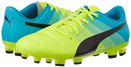 Puma Voetbalschoenen Evopower 4.3 Fg Voetbal Heren 103536 01 Safety Yellow-black-atomic Blue