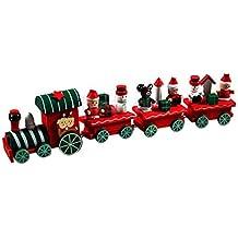 [Patrocinado] ppbuy 4piezas madera tren de Navidad Xmas Regalo para Bebé