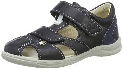 Ricosta Boys' Kaspi Closed Toe Sandals, Blue (Nautic 175), 5.5 UK ()