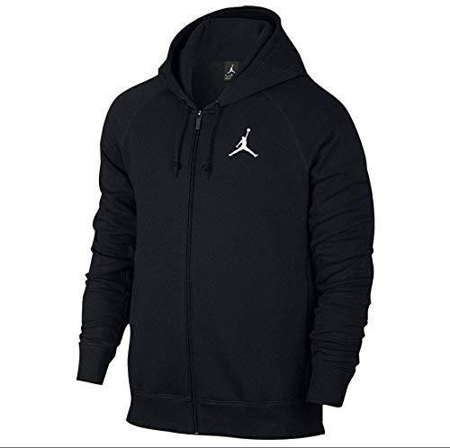 Jordan Full Zip Jumpman Warm up Hoodie Black Large (Large, Black/White) ()