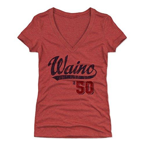 500 LEVEL Adam Wainwright Women's V-Neck Shirt XX-Large Tri Red - St. Louis Baseball Women's Apparel - Adam Wainwright Players Weekend B