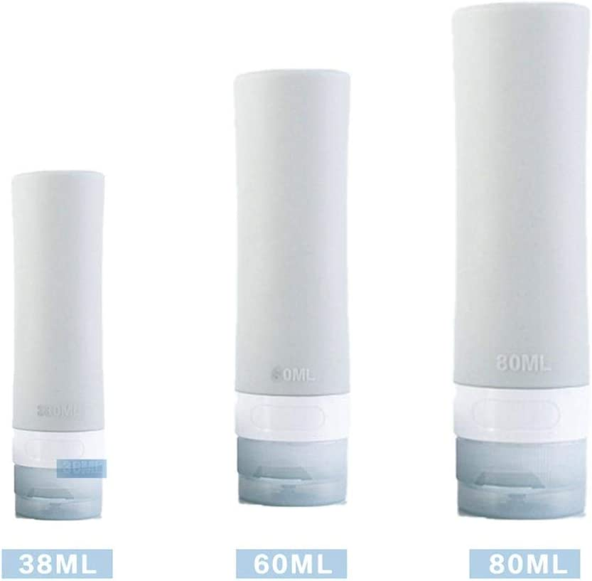 Flacone dispenser per lozione bottiglia bottiglia da viaggio trasparente 38 ml 60 ml 80 ml 3 pezzi