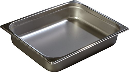 Carlisle 608122 DuraPan Steam Table Pans, Set of 6 (Half-Size, 2 1/2-Inch, Stainless Steel, ()