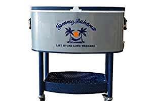 Outdoor Camping Cart Stainless Steel Cooler 73 Quart Rolling Cooler Parties BBQ