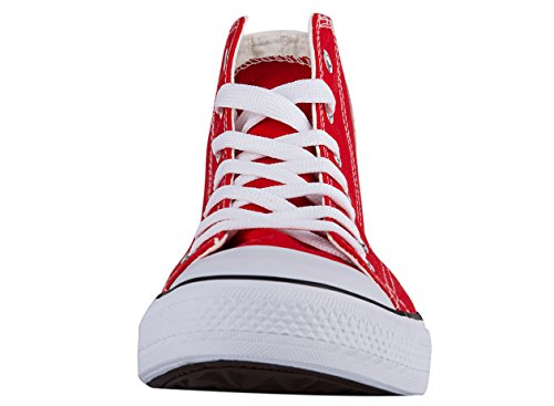 Shoes Men Shoes Canvas Shinmax Season Women Casual Tops Canvas Unisex for Hi Red Lace Shoes Trainers Ups Color and Bwv6wq
