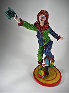 Einrad Clown Charlie 27 x 21 cm Zirkus Harlekin Kostüm Figur Deko GV 770-2607