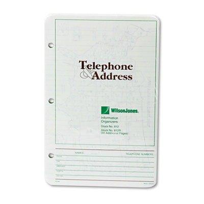 WLJ812R - Wilson Jones Looseleaf Phone/Address Book Refill
