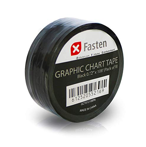 XFasten Thin Graphic Chart Line Tape (Black)