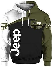 Cronell Story unisex långärmad huvtröja 3D digital internationell jeep logo tryck sweatshirt ledig tröja