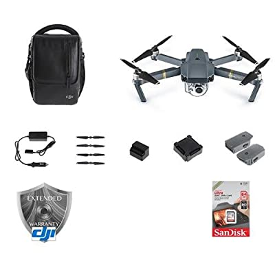 DJI Mavic Pro - Fly More Combo - Bundle With DJI Care Refresh (Mavic Pro) Card, 64GB MicroSDXC Card