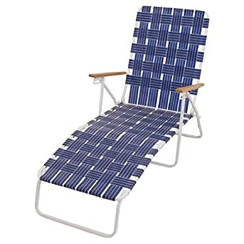 Rio Brands BY405-0138 Hi Back Web Chaise - Blue