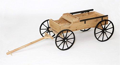 - Rustic Cedar Buckboard Wagon Half-Scale Amish Made in USA