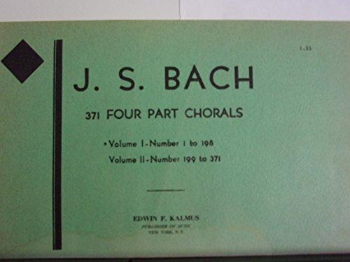 J. S. Bach: 371 Four Part Chorals, Vol. 1, Nos. 1-198