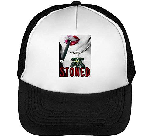 Hombre Blanco Snapback Girl Fashioned Slogan Negro Gorras Sexy Beisbol Stoned 5z6wqYX1n