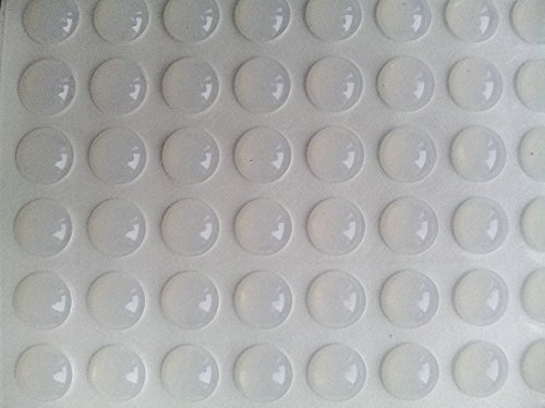 Ehanmu 200pcs Self-adhesive Clear Rubber Feet Tiny Bumpons 0.25