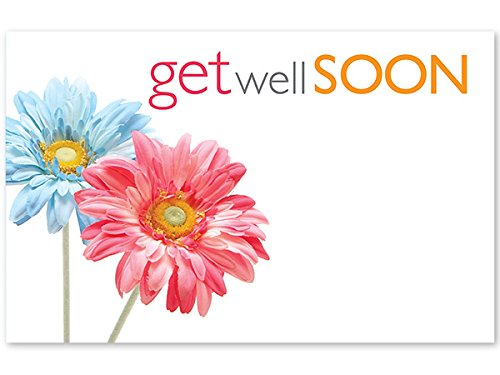 Pack Of 50, Get Well Soon Daisies Enclosure Card 3-1/2'' x 2-1/4'' Made In USA by Generic