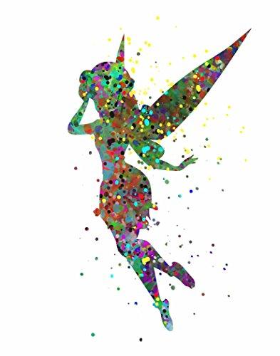 (ArtDash® Pop Art Print: Watercolor Splatter TINKERBELL (8