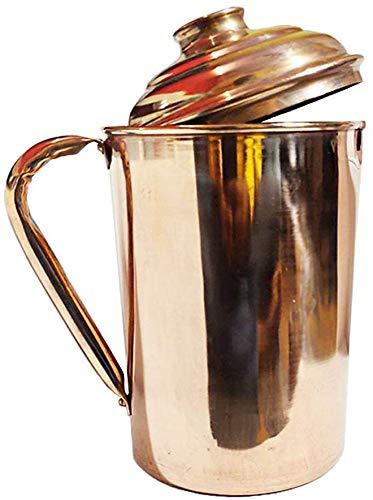 NK GLOBAL Kalash De Cobre Indian Lota Pooja Samagri Contenedor De Agua para Cocina Jarra De Cobre para La Decoraci/ón del Templo Hindu Pooja Art/ículos 1 Pc